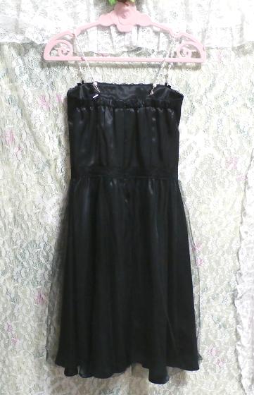 黒レースキャミソールワンピースドレス Black lace camisole onepiece onepiece dress_画像3