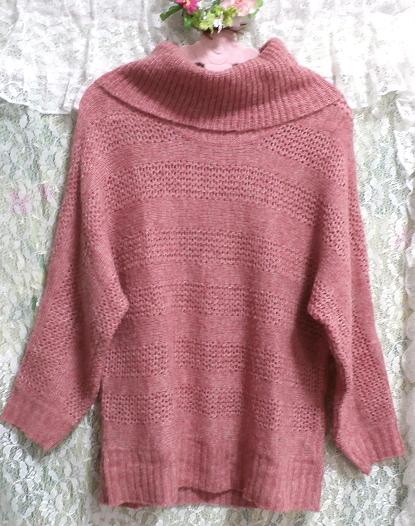 桃ピンク色セーター/トップス/ニット Peach pink sweater/tops/knit_画像1