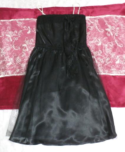 黒レースキャミソールワンピースドレス Black lace camisole onepiece onepiece dress_画像1