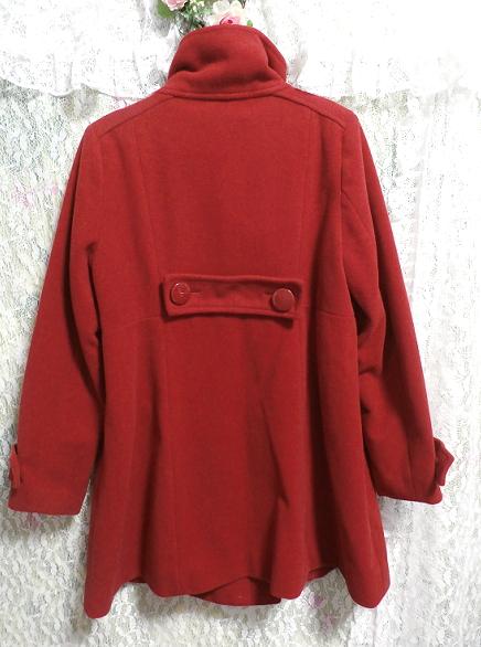 真っ赤なガーリー可愛いロングコート/外套 Crimson red girly cute long coat/crown_画像2