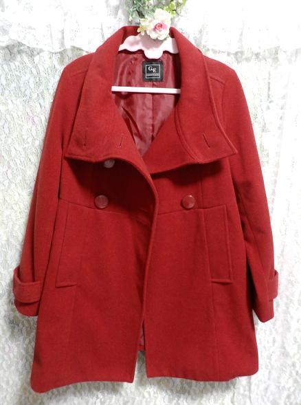 真っ赤なガーリー可愛いロングコート/外套 Crimson red girly cute long coat/crown_画像1
