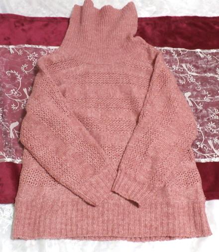 桃ピンク色セーター/トップス/ニット Peach pink sweater/tops/knit_画像2
