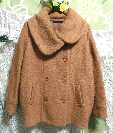 茶色のガーリーあったかフワフワコート/外套 Brown girly fluffy coat_画像1