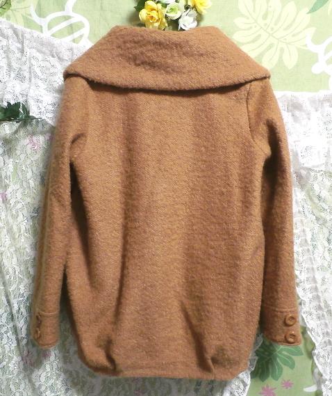 茶色のガーリーあったかフワフワコート/外套 Brown girly fluffy coat_画像2