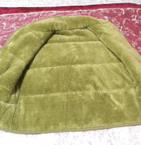 黄緑山吹色のフワフワあったかベスト/羽織 Yellow green Yamabuki color fluffy vest_画像5