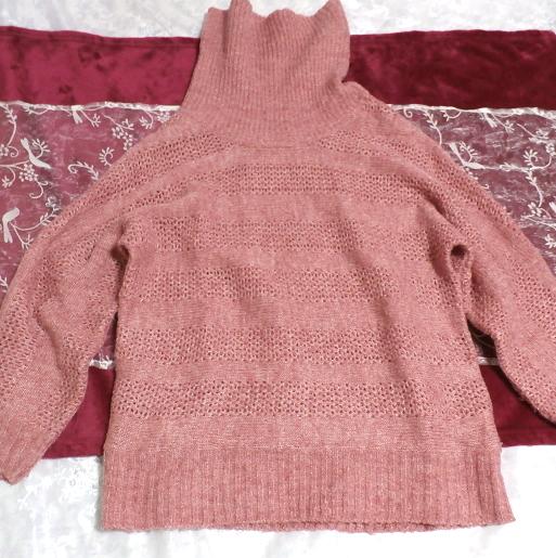 桃ピンク色セーター/トップス/ニット Peach pink sweater/tops/knit_画像3