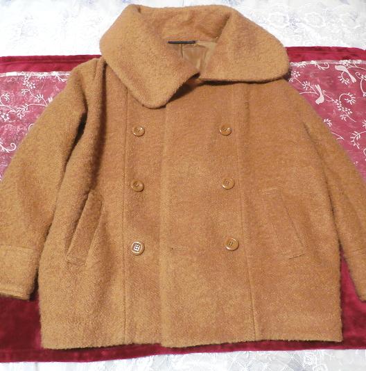 茶色のガーリーあったかフワフワコート/外套 Brown girly fluffy coat_画像3