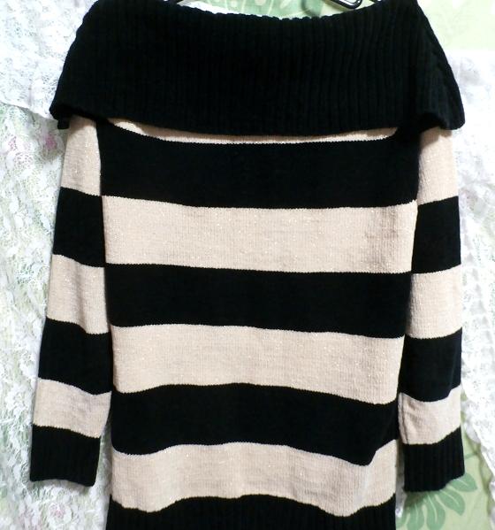 黒と黄色の縞々厚着/セーター/ニット/トップス Black yellow striped/sweater/knit/tops_画像3