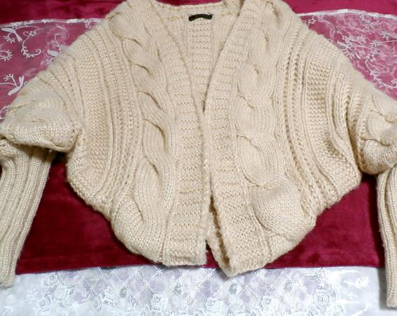 亜麻色ピンクセーター風逆ハート型カーディガン/アウター Flax color pink sweater style reversing heart type cardigan/outer_画像5