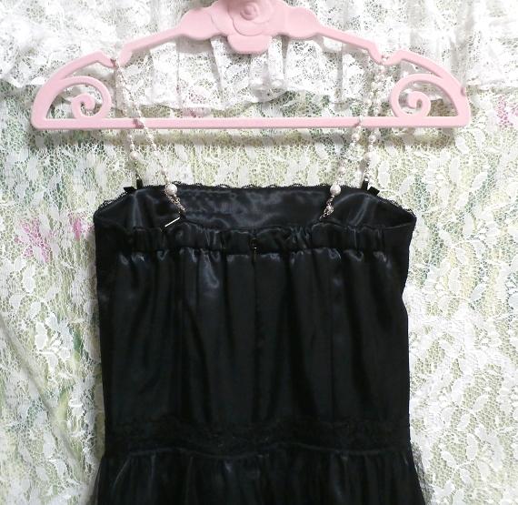 黒レースキャミソールワンピースドレス Black lace camisole onepiece onepiece dress_画像4