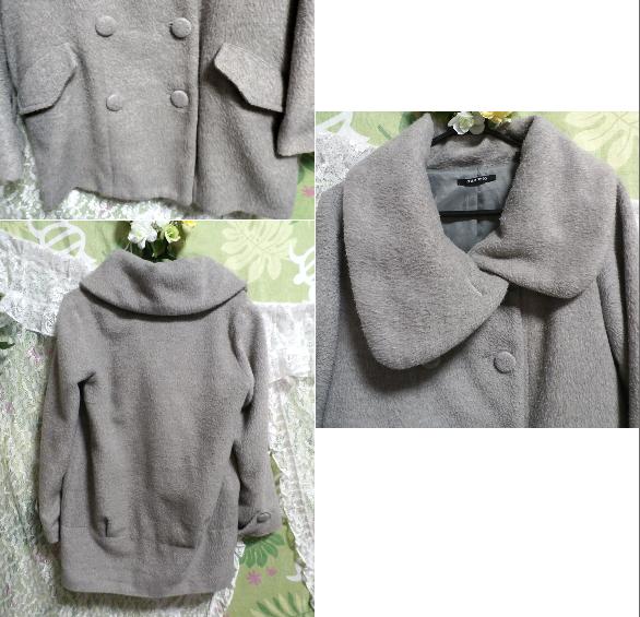 可愛いガーリー灰色ロングコート/外套 Cute girly gray long coat_画像3