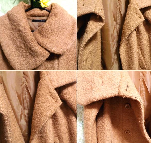 茶色のガーリーあったかフワフワコート/外套 Brown girly fluffy coat_画像5