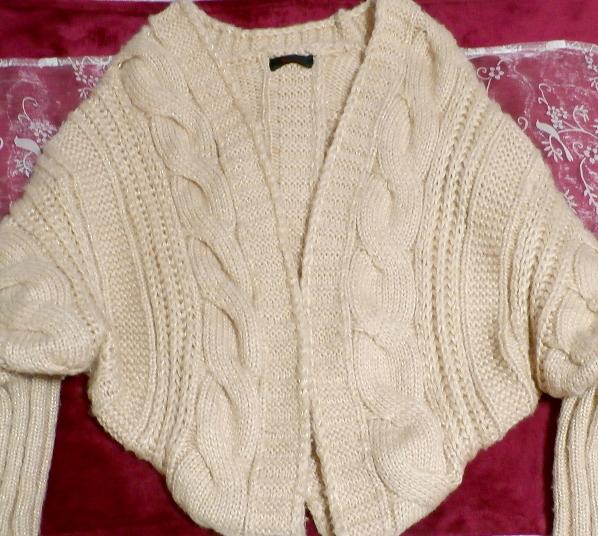 亜麻色ピンクセーター風逆ハート型カーディガン/アウター Flax color pink sweater style reversing heart type cardigan/outer_画像6