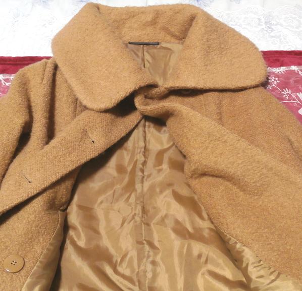 茶色のガーリーあったかフワフワコート/外套 Brown girly fluffy coat_画像4