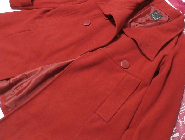 真っ赤なガーリー可愛いロングコート/外套 Crimson red girly cute long coat/crown_画像6