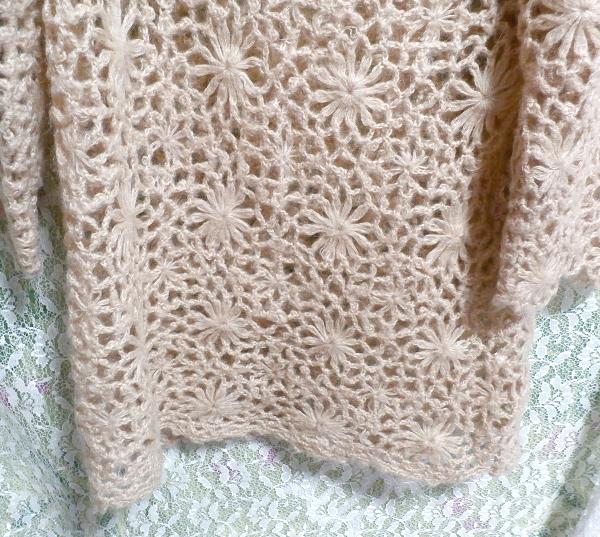 淡い茶色編みセーター/トップス/ニット Light brown braided sweater/tops/knit_画像4