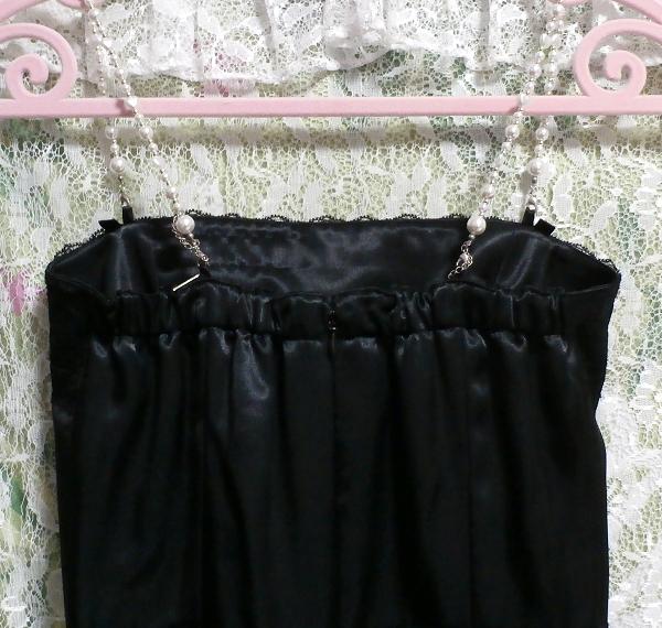 黒レースキャミソールワンピースドレス Black lace camisole onepiece onepiece dress_画像5