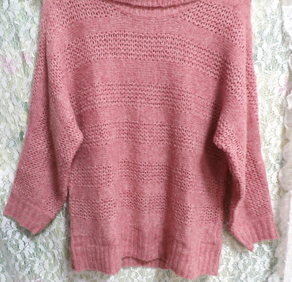 桃ピンク色セーター/トップス/ニット Peach pink sweater/tops/knit_画像4
