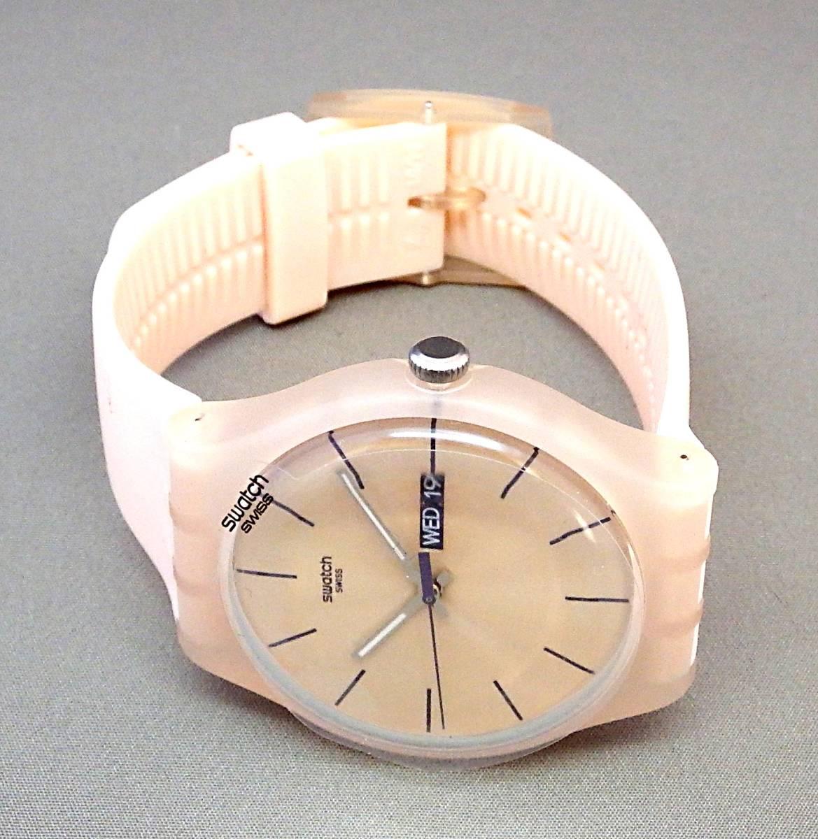 EU-9112■swatch スウォッチ SUOT700 メンズ腕時計 3針カレンダ- ケース付き 中古■切手可_画像2