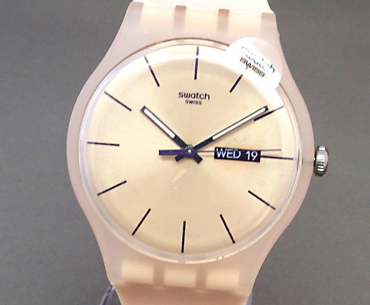 EU-9112■swatch スウォッチ SUOT700 メンズ腕時計 3針カレンダ- ケース付き 中古■切手可_画像1