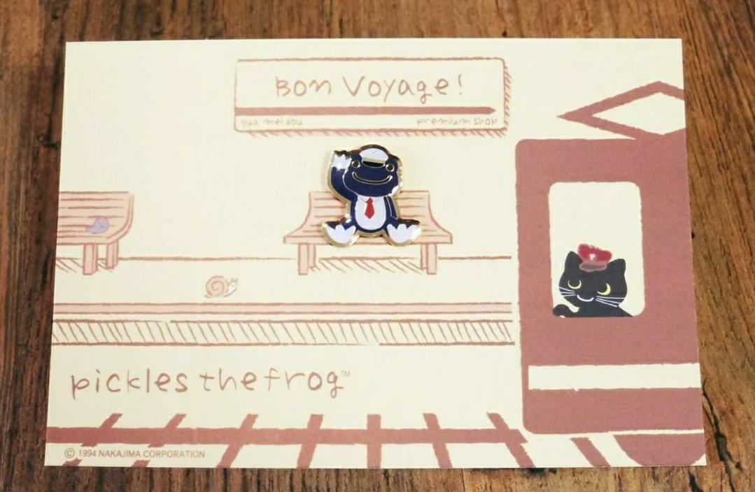 ☆即決!新品未開封 かえるのピクルス 東京駅 イベント限定 ピンズ 『駅長』 Bon Voyage!13 ボン・ボヤージュ! _画像1