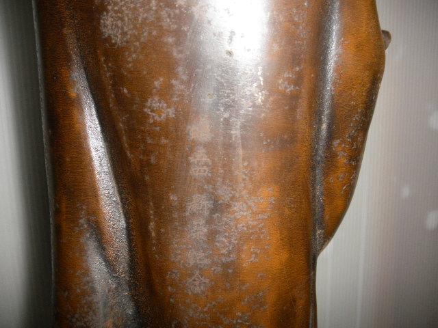@@ ◆観音様 仏像 金属工芸 鉄 古民具 レトロ調 アンティーク調 インテリア 雑貨 彫刻 東洋彫刻 _画像8