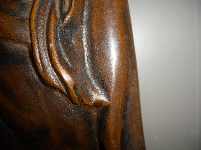 @@ ◆観音様 仏像 金属工芸 鉄 古民具 レトロ調 アンティーク調 インテリア 雑貨 彫刻 東洋彫刻 _画像4