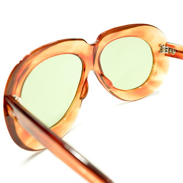 極上アバンギャルドSHAPE 1950sフランス製2DOTラウンドワイドリム鼈甲柄PANTO日本製ガラスレンズ入サングラスA4441 ヴィンテージ眼鏡メガネ_画像4