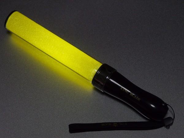 【ペンライト】★キンブレ★ キングブレード MAX II イエロー(シャイニング キラキラタイプ) 単色LEDペンライト サイリウム