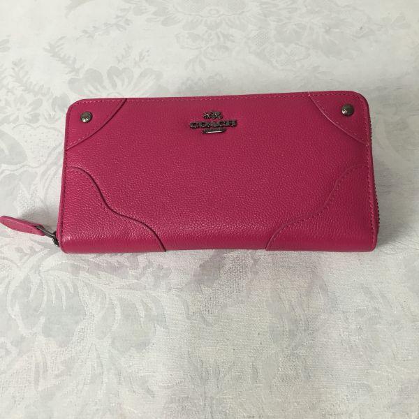 コーチ COACH 長財布 F52645レッド シグネチャーウォレット 新品正規アウトレット品
