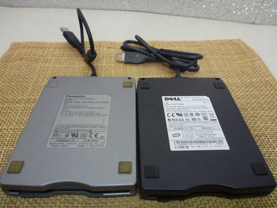 ■大坂 堺市 引き取り歓迎!■ジャンク品■フロッピーディスクドライブ Panasonic CF-VFDU03 DELL FDD IFD-05UB 2点セット■_画像2