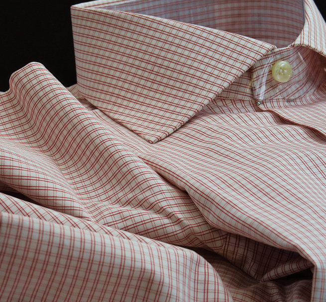 ★イタリアシャツ DANROMAワイドカラーシャツDOVER_F18-60 140番手双糸の調べ♬~ 品質の良さが男の色気を惹きたてます S 38-87_画像1