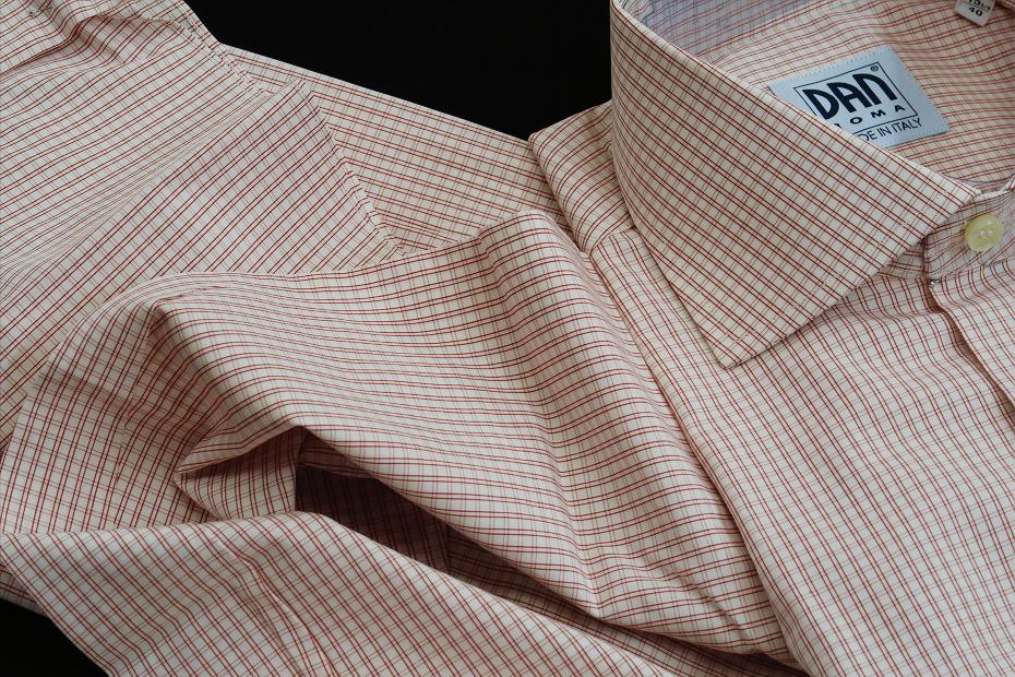 ★イタリアシャツ DANROMAワイドカラーシャツDOVER_F18-60 140番手双糸の調べ♬~ 品質の良さが男の色気を惹きたてます S 38-87_画像3