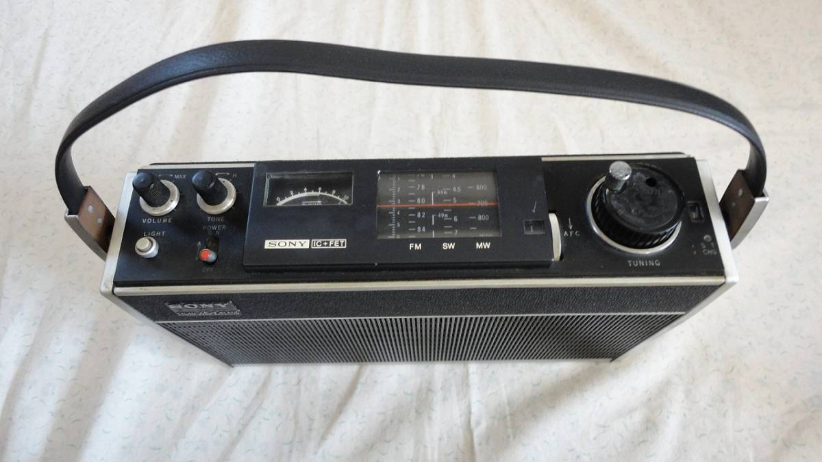 SONY ラジオICF-500S、皮ケース(未使用ICF-500,ICF-500S用)_画像3