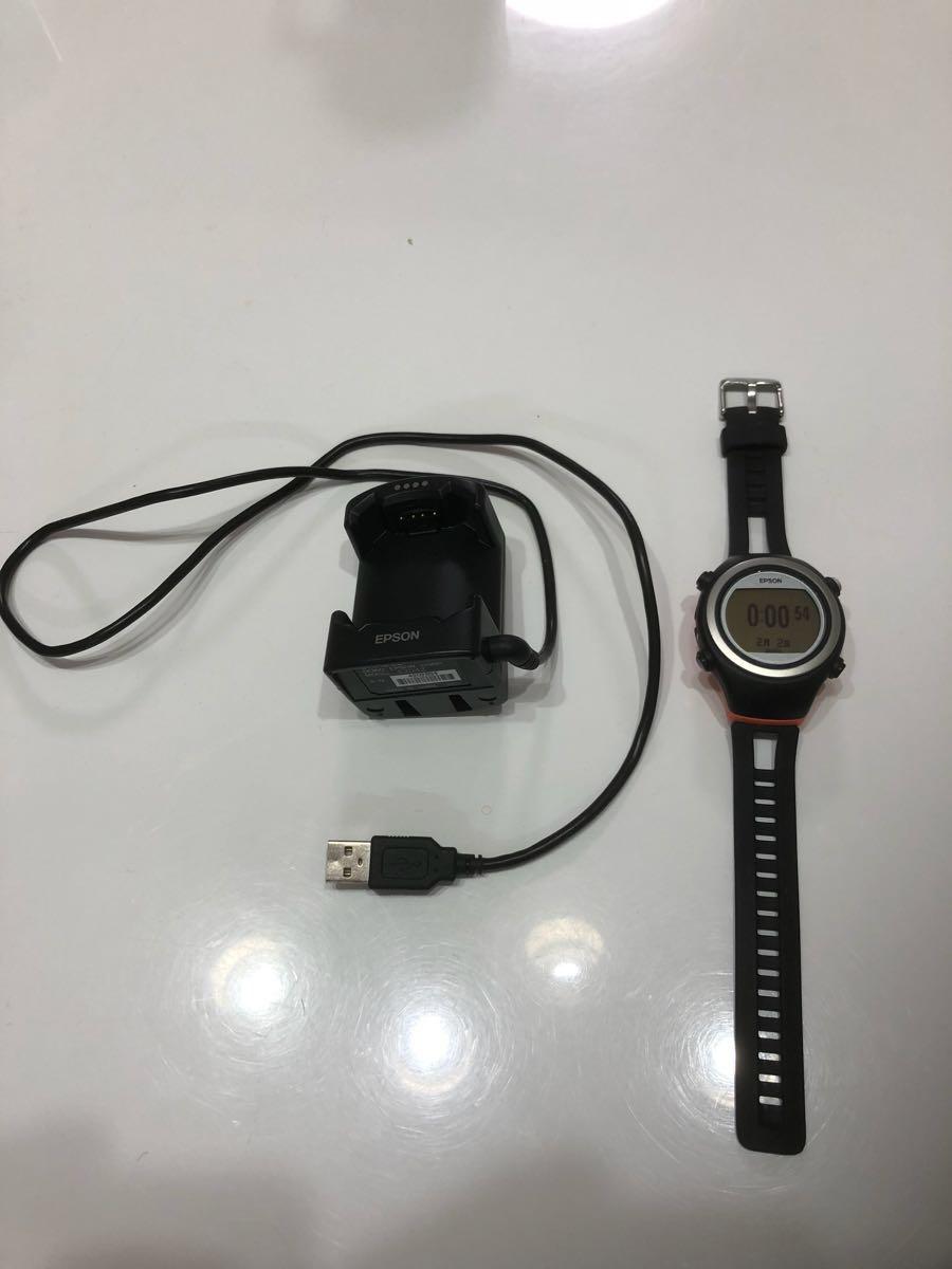 【売切】EPSON エプソン SF-510 GPS デジタルウォッチ ランニング ウォッチ マラソン 時計