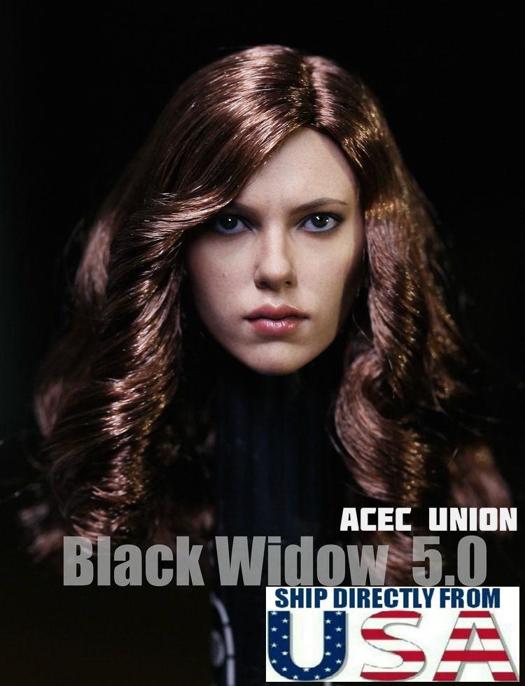 送料無料★1/6 Copy Cat キャプテンアメリカ ブラック・ウィドウ スカーレット・ヨハンソン似 5.0最新版 ヘッドパーツ ファイセン対応★