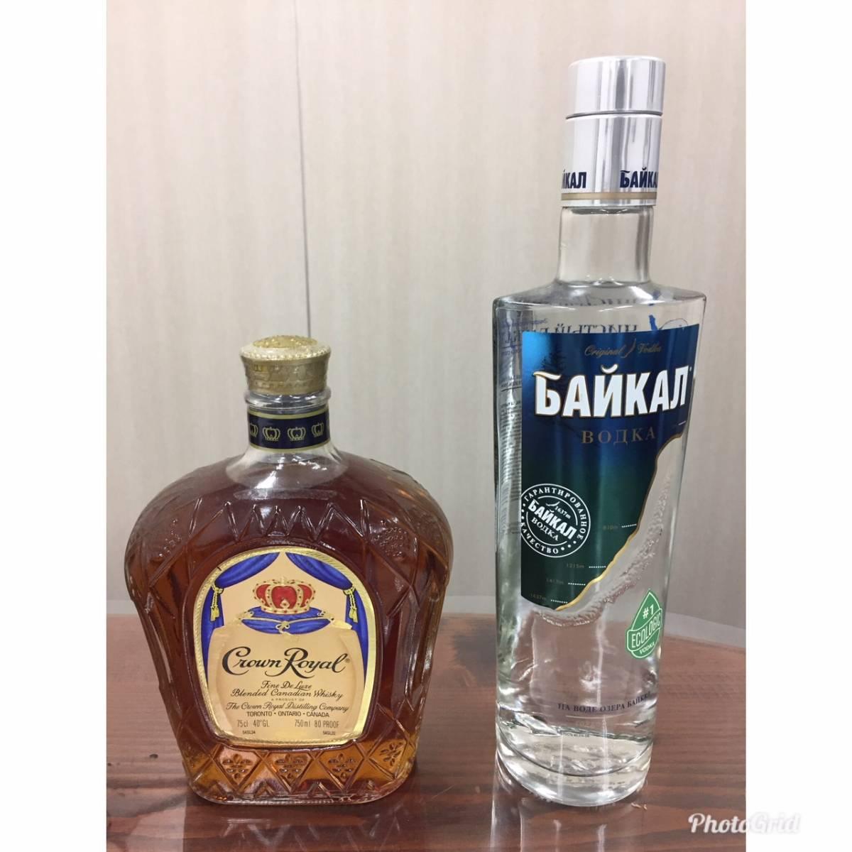 ☆ 古酒 2本セット ウオッカ ・ カナディアンウイスキー ☆
