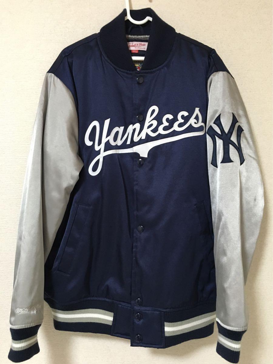 美品!!◆mitchell & ness スタジャン YANKEES◆ミッチェル&ネス メジャーリーグ ヤンキース MLB nike supreme