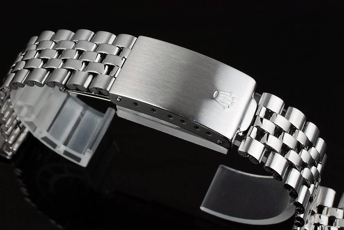 美品 純正 ロレックス デイトジャスト 5連ジュビリーブレス 20mm 62510H(6251H刻印) 55 ベルト F/F バネ棒 1601 1603 16014 ROLEX製 メンズ