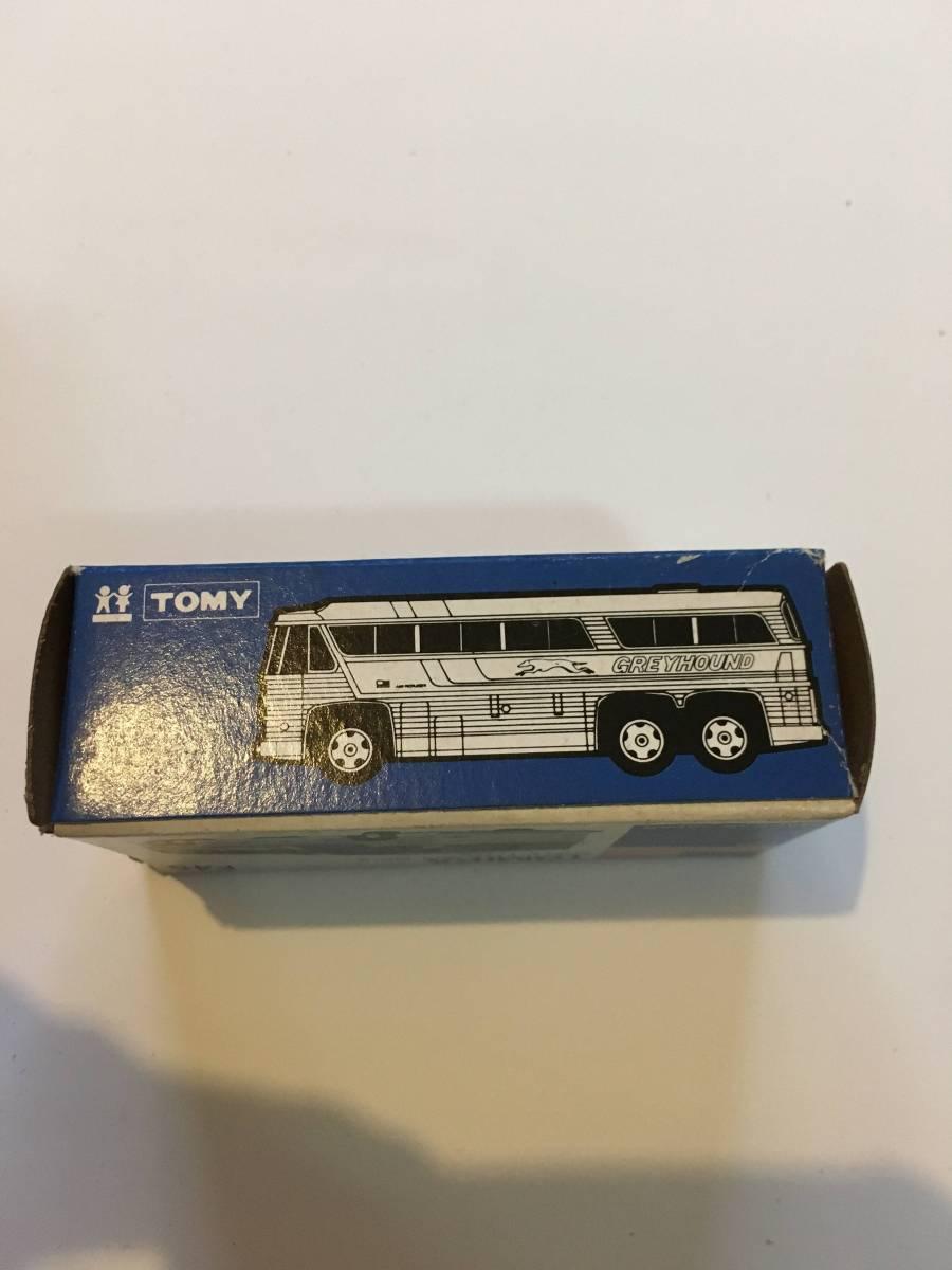 tomica トミカ 青箱 外国車シリーズ(箱のみ)F49 グレイハウンドバス MC-8 アメリカ車 空箱_画像2