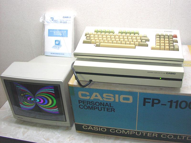 動作品 CASIO カシオ FP-1100 購入時箱、マニュアル付_画像2
