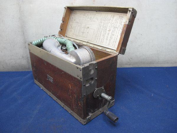 九二式電話機(214)日本陸軍野戦用電話機 沖電気 昭和17年5月 レトロ 軍隊_画像2