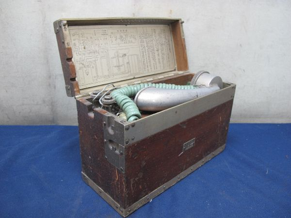 九二式電話機(214)日本陸軍野戦用電話機 沖電気 昭和17年5月 レトロ 軍隊_画像3