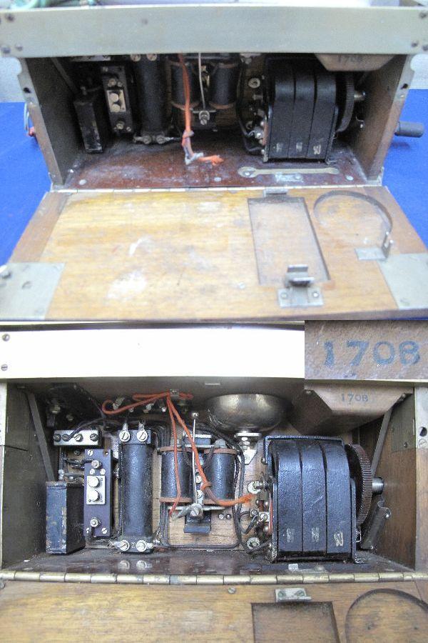 九二式電話機(214)日本陸軍野戦用電話機 沖電気 昭和17年5月 レトロ 軍隊_画像6