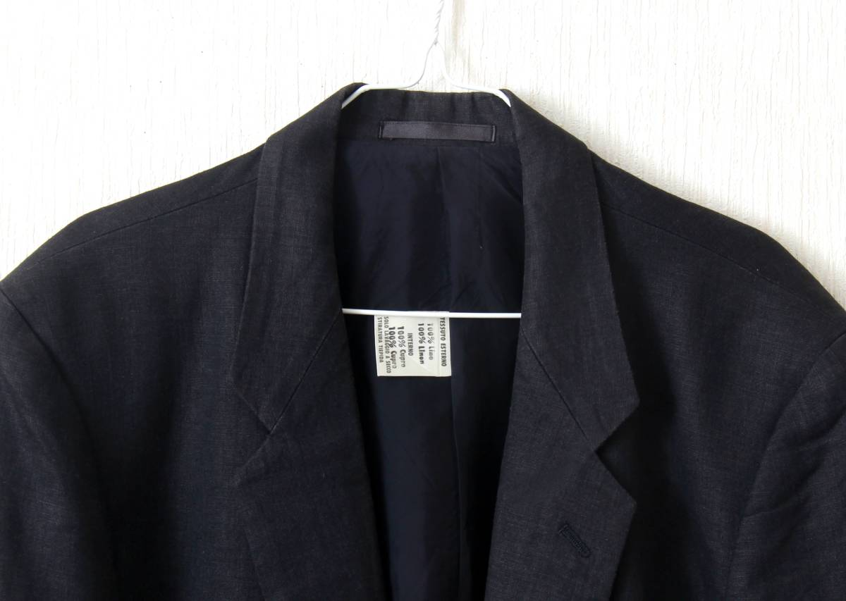 ARTIGLANO リネン生地/黒ジャケット Mサイズ_画像2