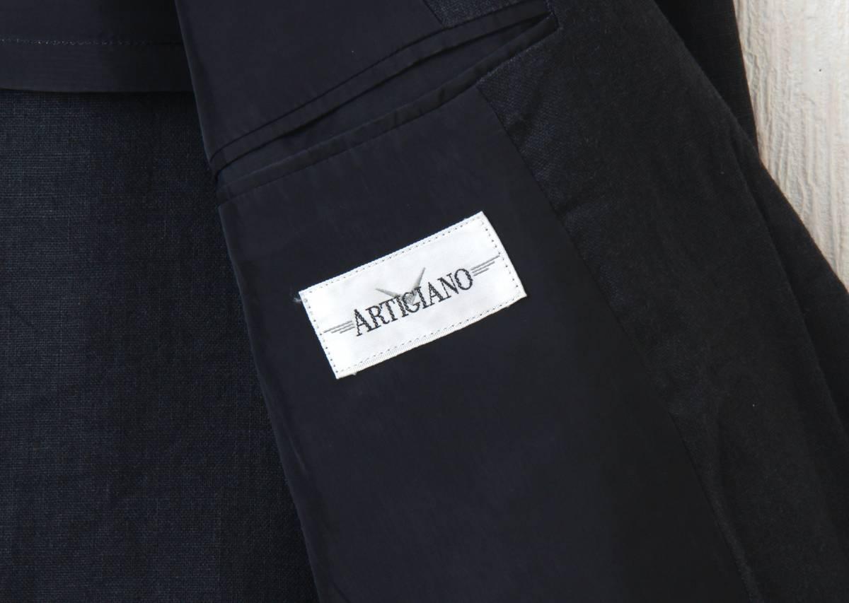 ARTIGLANO リネン生地/黒ジャケット Mサイズ_画像3