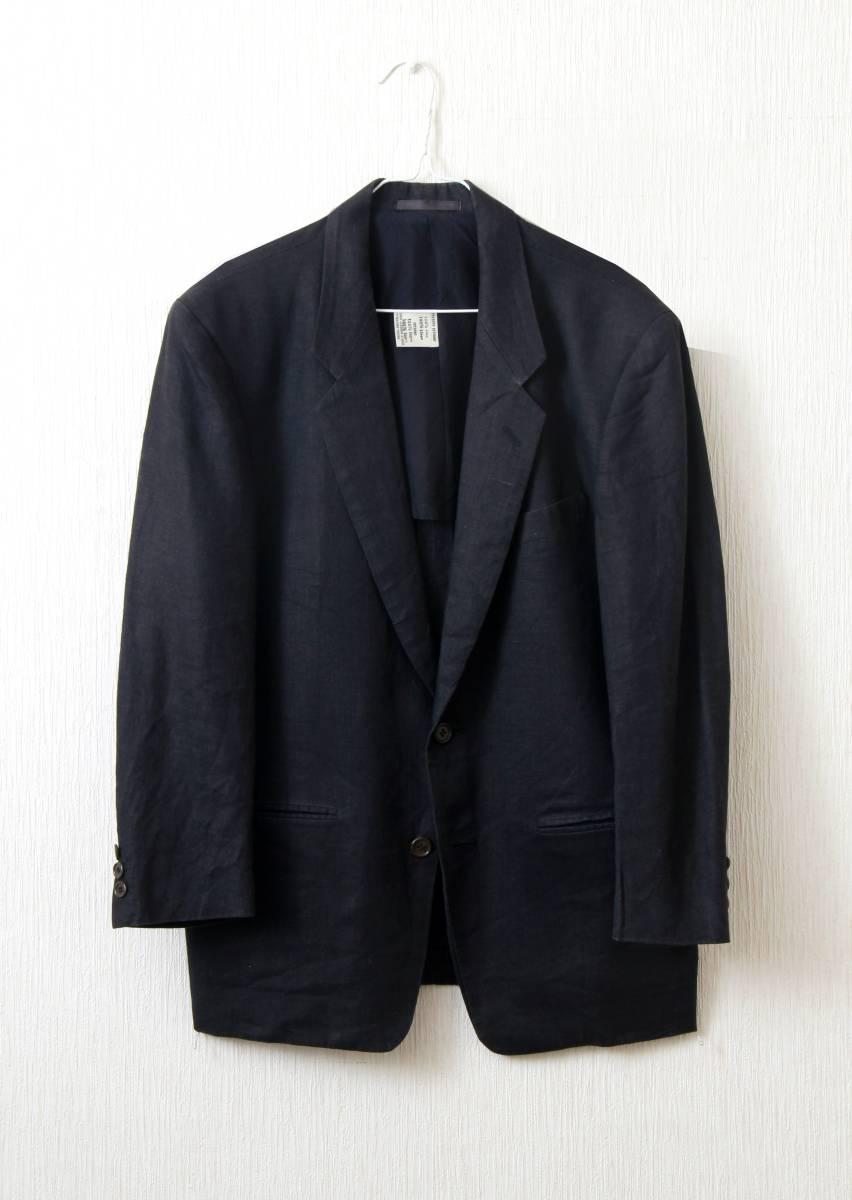 ARTIGLANO リネン生地/黒ジャケット Mサイズ_画像1