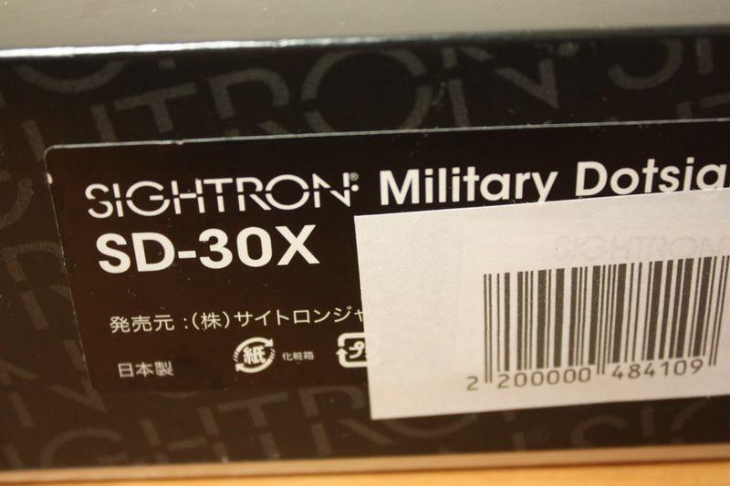 実物◆SIGHTRON サイトロンジャパン/TASCO SD-30X 軍用規格ドットサイト ダットサイト SD30X◆(検)MD-30 自衛隊 米軍 SEAL PTW トレポン M4_画像7