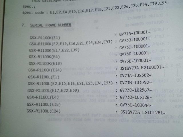 送料164円 スズキ GSX-R1100 K,L パーツカタログ パーツリスト GV73_画像3