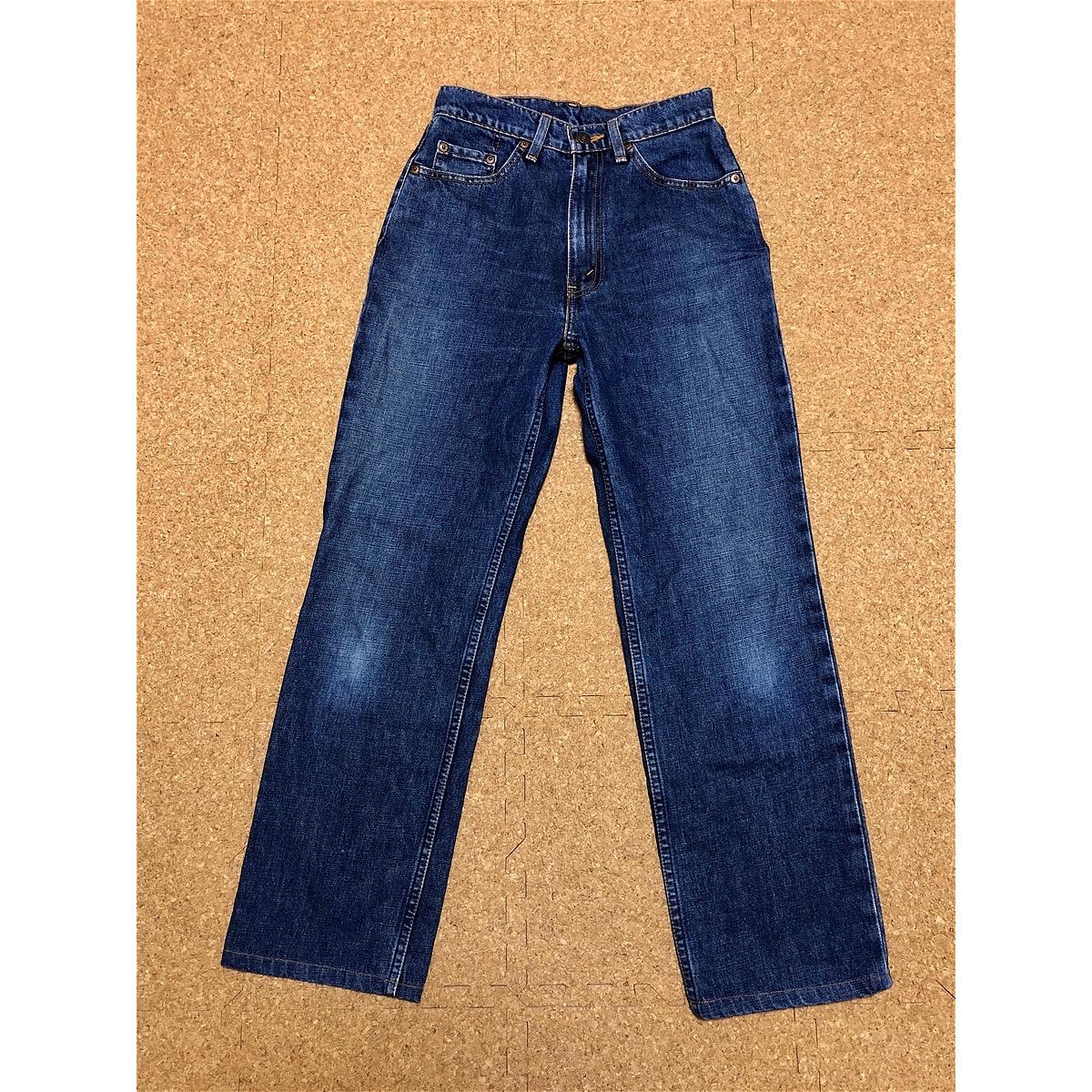 即納 送料無料 洗濯済 「29」サイズ 【LEVIS】 W519-02 股上深めジーンズ ブルー レディース リーバイス 股下72cm GW58